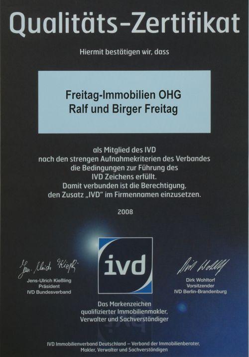 IVD-Qualitäts-Zertifikat
